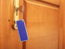Klucz w keyhole zdjęcia stock