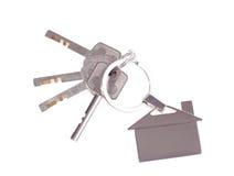 klucza kluczowy pierścionek Zdjęcie Royalty Free