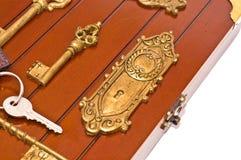 klucza pudełkowaty srebro Obraz Royalty Free