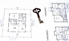 klucze do domu plan Zdjęcie Royalty Free