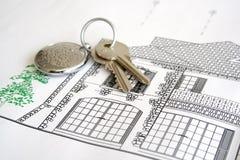 klucze do domów Obrazy Royalty Free