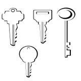 klucze do odłogowania Zdjęcia Stock