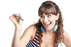 klucze pokazywać kobiety Zdjęcia Stock