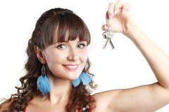 klucze pokazywać kobiety Zdjęcie Stock
