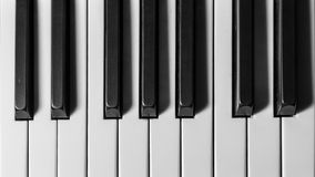 Klucze uroczysty pianino fotografia stock