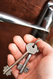 Klucze w ręce Fotografia Stock