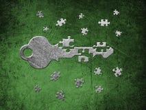 kluczowa łamigłówka Zdjęcie Stock