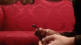 Kluczowa czerwona kanapa zbiory wideo