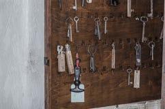 kluczowa deska w domu Fotografia Stock