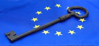 Kluczowa euro flaga Obraz Royalty Free