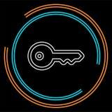 Kluczowa ikona - wektoru kluczowy symbol Ochrona royalty ilustracja