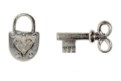 kluczowa kłódka Zdjęcie Royalty Free