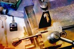 Kluczowa kopiowa maszyna z kluczem Obraz Royalty Free