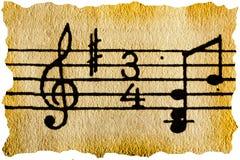 kluczowa muzyczna notacja Fotografia Stock