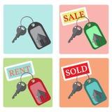 Kluczowe ikony od domu Fotografia Royalty Free