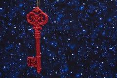 kluczowe ornament czerwony Zdjęcie Royalty Free