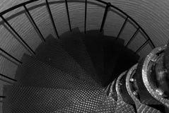 kluczowej latarni morskiej ślimakowaty schody zachodni obrazy stock