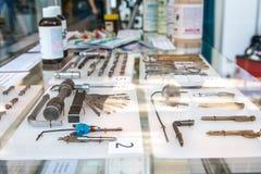 Kluczowi puste miejsca i narzędzia dla krakersa Zdjęcie Royalty Free