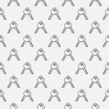 Kluczowy bezszwowy wzór Obrazy Royalty Free