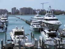 Kluczowy Biscayne port Zdjęcia Royalty Free