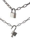 Kluczowy kędziorek blokujący i otwierający z łańcuchem Fotografia Stock