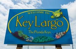 Kluczowy Largo znak powitalny Obraz Royalty Free