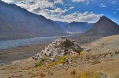 Kluczowy monaster, Tybetański Buddyjski monaster lokalizować w India Obraz Royalty Free