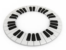 kluczowy pianino Obrazy Royalty Free