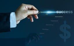 Kluczowy rocznik w ręce i światło błyśniemy, biznesowy pojęcie Zdjęcia Stock