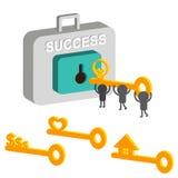Kluczowy sukces royalty ilustracja