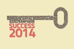 Kluczowy sukces z biznesowymi słowami Zdjęcia Stock