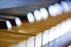 kluczowym pianino Fotografia Royalty Free