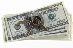 kluczowym pieniądze Zdjęcia Stock