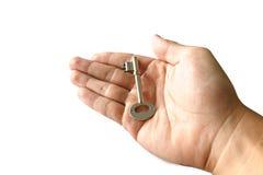 kluczowym srebra Zdjęcie Royalty Free
