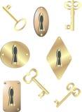 kluczy kędziorki Obraz Royalty Free