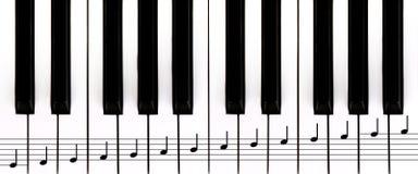 kluczy pianina personel Zdjęcia Stock