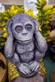 Kluger Affe in Asien-Tempel, Chiang Mai Lizenzfreie Stockbilder