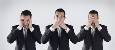 Kluger Geschäftsmann drei Stockfoto