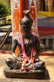 Kluizenaarstandbeeld in Wat Sri Rong Muang, Lampang, Thailand Royalty-vrije Stock Afbeeldingen