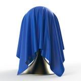 Klumpa ihop sig på den koniska ställningen som täckas med ljus - grå matte tygtextiltolkning Royaltyfri Fotografi