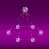 Klumpa ihop sig pyramiden vektor illustrationer