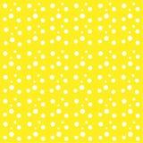 Klumpa ihop sig vita droppar för gul bakgrund den abstrakta modellen för cirklar vektor illustrationer