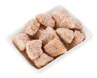 klumpa sig den bruna rottingen för handfatet rektangulärt socker Fotografering för Bildbyråer