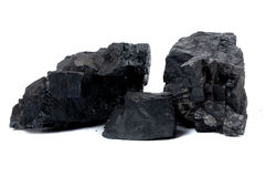 Klumpen der Kohle Stockfotos