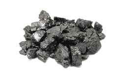 Klumpen der Kohle Stockbild