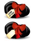 Klumpen der Kohle für Weihnachten Stockfotos