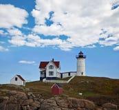 Klumpen-Leuchtturm, Maine lizenzfreies stockfoto