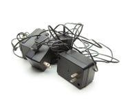 Klumpiga AC-adapter (som kallas gemensamt väggvårtor) Royaltyfria Foton