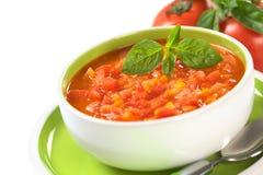Klumpige Tomate-Suppe Lizenzfreie Stockfotografie