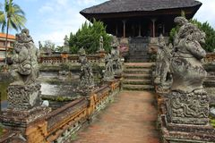 Klungkungpaleis, Bali stock fotografie